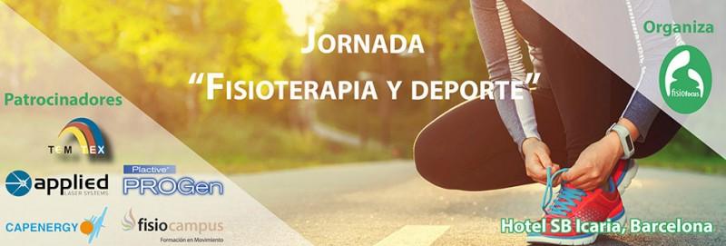 Cartel de la jornada Fisioterapia y Deporte organizada por Fisiofocus